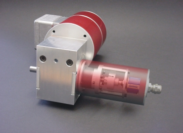 Three-phase motor with worm gear WD31 and absolute encoder